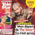 """M Pokora en couverture du magazine """"Télé Star"""", en kiosques le 14 août 2017."""