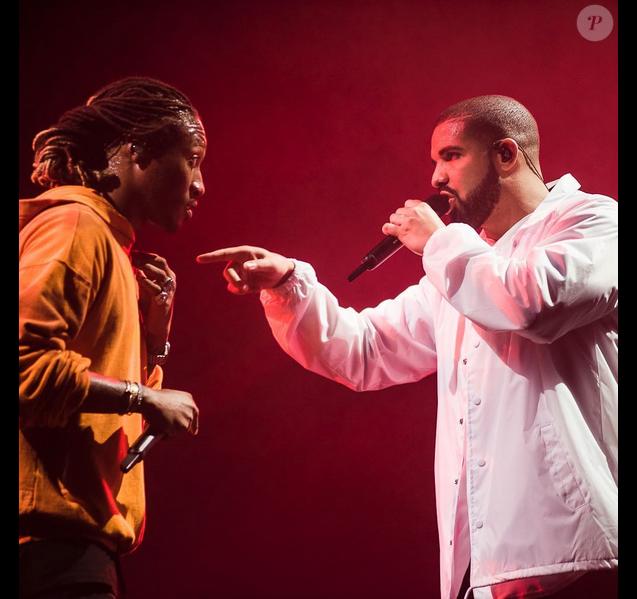 Photo de Drake et Future en concert. Septembre 2016.
