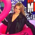 """Fiona Deshayes sur le plateau du """"Mad Mag de NRJ12"""" - Instagram, 2017"""
