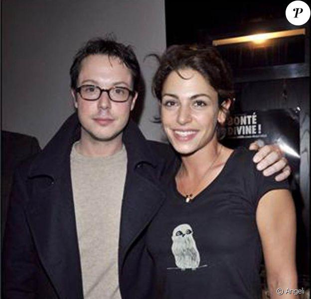 Davy Sardou et Noémie Elbaz à la générale de la pièce Bonté Divine. 09/02/09