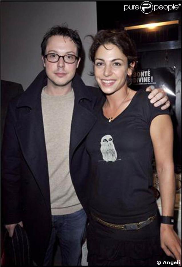 Davy Sardou et Noémie Elbaz à la générale de la pièce  Bonté Divine . 09/02/09