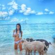 """""""Brittany Furlan sur Pg Beach lors de son séjour aux Bahamas avec Tommy Lee en août 2017, photo Instagram."""""""