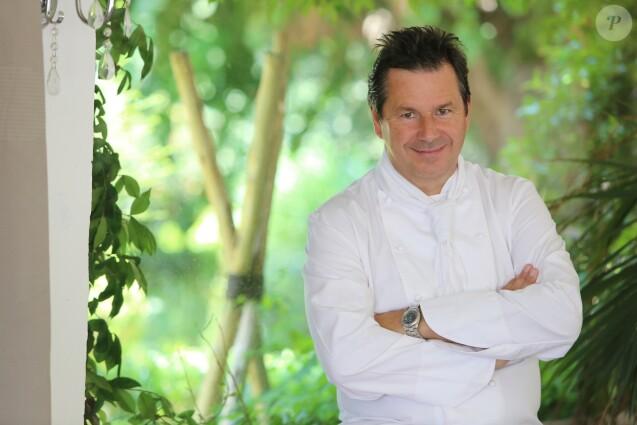 Exclusif - Christophe Leroy, le chef du restaurant Les Moulins de Ramatuelle, est l'organisateur des célèbres soirées blanches à Saint-Tropez, le 13 mai 2015.