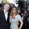 François-Henri Pinault, sa femme Salma Hayek - Montée des marches du film de la Soirée 70e Anniversaire lors du 70e Festival International du Film de Cannes. Le 23 mai 2017. © Borde-Jacovides-Moreau/Bestimage