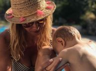 Ingrid Chauvin : Son fils se la coule douce pendant qu'elle bosse...