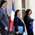 Jean-Vincent Placé, Emmanuelle Cosse et Myriam El Khomri - Sortie du conseil des ministres au Palais de l'Elysée, à Paris le 3 mai 2017. © Stéphane Lemouton/Bestimage