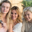 Coline Bellin, Ingrid Chauvin et Luce Mouchel sur le tournage de Demain nous appartient pour TF1. Juin 2017.