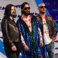 Jared Leto, son frère Shannon Leto et Tomo Milicevic (Thirty Seconds to Mars) - MTV Video Music Awards 2017 au Forum à Inglewood, le 27 août 2017.