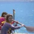 """Equipe jaune lors de l'épreuve de confort - """"Koh-Lanta Fidji"""", le 1er septembre 2017 sur TF1."""