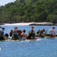 """Equipe rouge lors de l'épreuve de confort - """"Koh-Lanta Fidji"""", le 1er septembre 2017 sur TF1."""