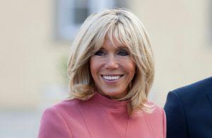 Brigitte Macron : Sourire radieux et robe sublimant ses jambes longilignes