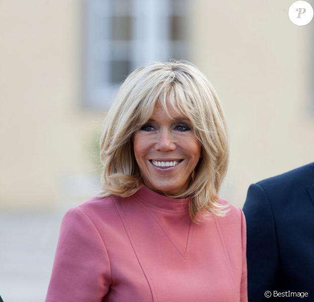 La Première Dame française Brigitte Macron (Trogneux) - La Première dame Brigitte Macron visite le Centre Culturel de Rencontre Abbaye de Neumünster au Luxembourg, le 29 août 2017. © Pierre Perusseau/Bestimage