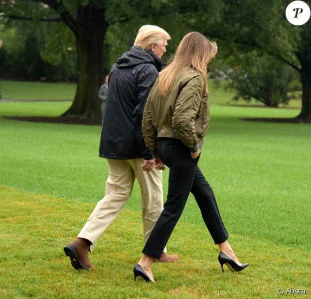 Le président Donald Trump et son épouse Melania Trump se rendent à Corpus Christi, au Texas. Washington, D.C., le 29 août 2017.
