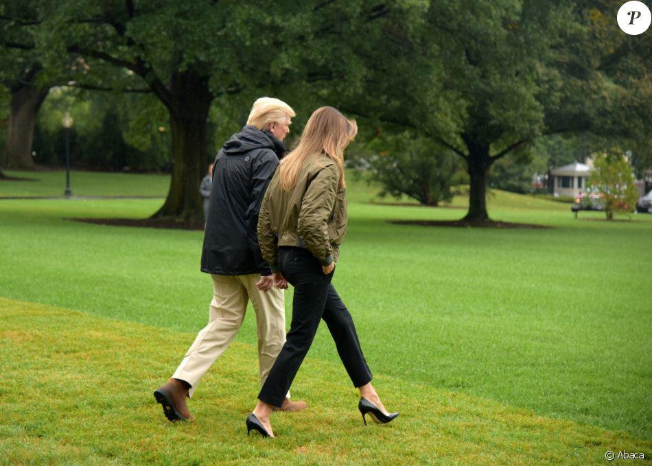 Melania Trump en talons aiguilles