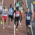 Le Français Pierre-Ambroise Bosse champion du monde du 800m lors des Championnats du monde d'athlétisme 2017 au stade olympique de Londres, le 8 août 2017.