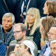 Nagui et sa femme Mélanie Page - Célébrités lors du match pour les éliminatoires de la Coupe du Monde 2018, France - Pays-Bas au Stade de France à Saint-Denis, le 31 août 2017. La France a gagné 4-0. © Agence/Bestimage