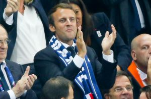 France−Pays-Bas : Emmanuel Macron et Ophélie Meunier ont vibré pour les Bleus