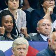 La ministre des Sports Laura Flessel-Colovic et le ministre de l'intérieur Gérard Collomb - Célébrités lors du match pour les éliminatoires de la Coupe du Monde 2018, France - Pays-Bas au Stade de France à Saint-Denis, le 31 août 2017. La France a gagné 4-0. © Agence/Bestimage