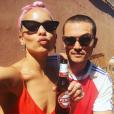Photo de Zoë Kravitz et Karl Glusman en vacances à Rome. Juillet 2017.