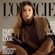 "Thylane Blondeau en couverture de ""L'Officiel"", septembre 2017."