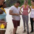 """L'équipe des Jaunes dans """"Koh-Lanta Fidji"""", sur TF1 le 8 septembre 2017."""