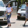 """Exclusif - Megan Fox et son mari Brian Austin Green vont déjeuner au restaurant """"Geoffrey's"""" à Malibu, le 8 août 2017."""