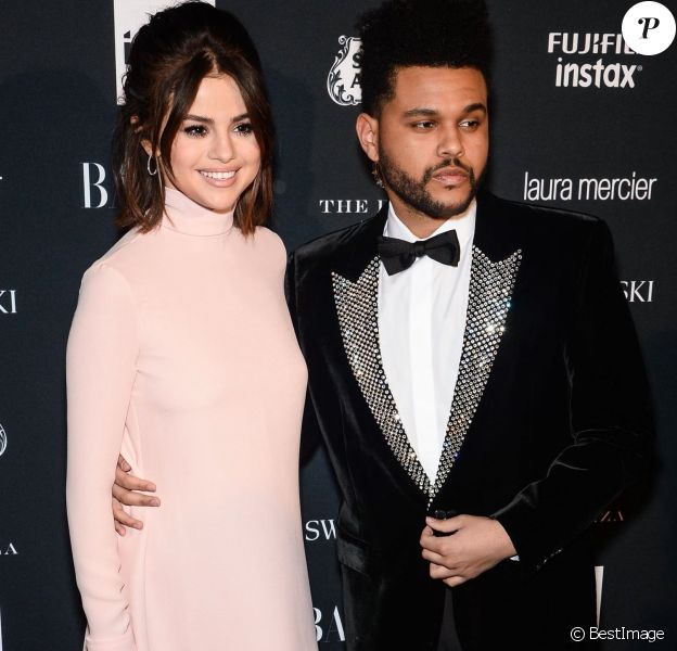 "Selena Gomez et son compagnon The Weeknd lors de la soirée ""ICONS By C. Roitfeld"" à New York le 8 septembre 2017."