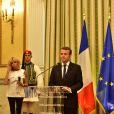 Brigitte Macron (Trogneux) et son mari Emmanuel Macron - Déclaration conjointe d u président de la République française Emmanuel Macron et de son homologue grec Prokópis Pavlópoulos au Palais présidentiel d'Athènes, Grèce, le 7 septembre 2017.