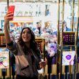 Eva Longoria, égérie L'Oréal Paris, rencontre ses fans et consommateurs de la marque à la boutique l'Oréal Paris rue de Rennes le 18 septembre 2017. © Cyril Moreau / Bestimage