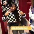 Laeticia Hllyday a publié une vidéo de sa fille Jade, 13 ans, en train de se faire percer les oreilles dans sa story Instagram, le 20 septembre 2017.