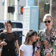 Johnny Hallyday quitte une pizzeria au volant de sa nouvelle Lamborghini Aventador à Brentwood pendant que sa femme Laeticia fait du shopping avec sa fille Jade dans Santa Monica le 20 mai 2017.