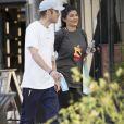 Exclusif - Kylie Jenner avec un ami dans les rues Calabasas, le 12 septembre 2017, quelques jours avant l'annonce de sa grossesse.