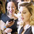 """Madonna présente sa gamme de cosmétiques """"MDNA SKIN"""" à Barney's New York sur Madison Avenue à New York, le 26 septembre 2017."""