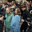 """Marie-Ange Casta arrivant au défilé de mode printemps-été 2018 """"Balmain"""" à l'Opéra Garnier à Paris. Le 28 septembre 2017 © CVS-Veeren / Bestimage"""