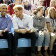 Joe et Jill Biden, Barack Obama et le prince Harry dans les tribunes des Invictus Games à Toronto, le 29 septembre 2017.