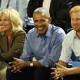 Joe Biden, Jill Biden, Barack Obama et le prince Harry dans les tribunes des Invictus Games à Toronto, le 29 septembre 2017.
