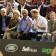 Joe Biden, Jill Biden, Barack Obama et le prince Harrydans les tribunes des Invictus Games à Toronto, le 29 septembre 2017.