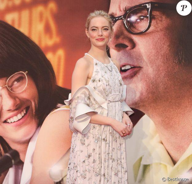 """Emma Stone - Projection du film """"Battle of the Sexes"""" au BFI London Film Festival à Londres. Le 7 octobre 2017."""