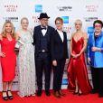 """Elisabeth Shue, Emma Stone, Jonathan Dayton, Valeria Faris, Andrea Riseborough et Billie Jean King - Projection du film """"Battle of the Sexes"""" au BFI London Film Festival à Londres. Le 7 octobre 2017."""