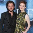 """""""Kit Harington et sa compagne Rose Leslie lors de la première de la saison 7 de 'Game of Thrones' au Disney Concert Hall à Los Angeles, le 12 juillet 2017."""""""