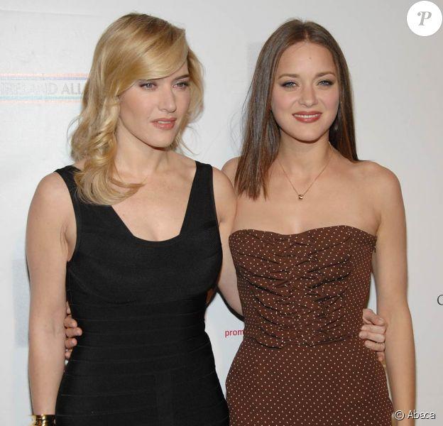 Kate Winslet divine en noir et Marion Cotillard sublime en marron, radieuses et complices au dpiner de l'alliance US-Irlande !