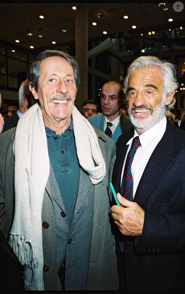 Jean Rochefort et Jean-Paul Belmondo - Vernissage de l'exposition Sculptures en 1999