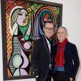 """Semi-exclusif - Bruno Frisoni et Hervé van der Straeten - Inauguration de l'exposition """"Picasso 1932, Année érotique"""" au musée national Picasso à Paris le 10 octobre 2017. © Julio Piatti/bestimage"""
