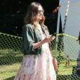 Exclusif - Jessica Alba enceinte fête en famille l'anniversaire de sa mère Catherine Jensen au Warehouse à Marina Del Rey, à Los Angeles, le 8 octobre 2017.