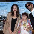Angelina Jolie, Agnès Varda, JR à la première de 'Faces Places' au Pacific Design center à West Hollywood, le 11 octobre 2017 © Chris Delmas/Bestimage
