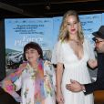 Jennifer Lawrence, Agnès Varda, JR à la première de 'Faces Places' au Pacific Design center à West Hollywood, le 11 octobre 2017 © Chris Delmas/Bestimage
