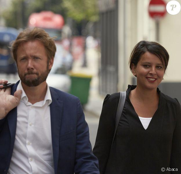 Najat Vallaud-Belkacem et son époux, le député Boris Vallaud, à Paris le 24 juin 2017.