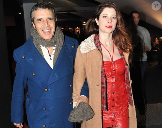 Julien Clerc et sa femme Hélène Grémillon à Paris le 6 Fevrier 2013.