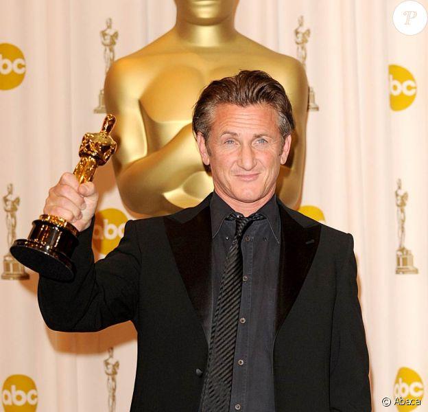 Sean Penn à la remise des Oscars. 22/02/09