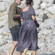 Exclusif - Jon Kortajarena - Alicia Vikander et son compagnon Michael Fassbender lors d'une fête pré-mariage avec la famille et les amis à Ibiza, Espagne, le 13 octobre 2017.
